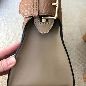 Burberry Bags - Burberry grain leather brown two toned satchel